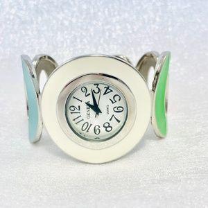 Bright Multicolored Cuff Watch Vintage